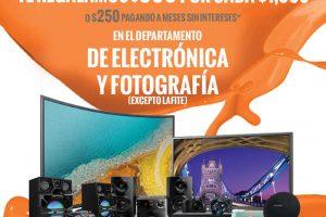 Temporada Naranja La Comer $350 por cada $1,000 en electrónica y fotografía