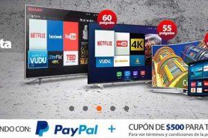 Walmart Cupón de $500 en compras de $4,000 o más + 12 MSI con Paypal