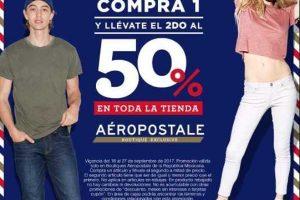 Aeropostale 50% de Descuento en Segunda Compra