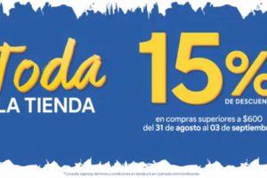 C&A 15% de descuento adicional en toda la tienda al 3 de septiembre