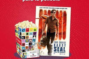 Cinemex Palomitas Gratis al comprar boleto de la película Barry Seal