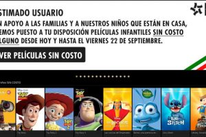 Cinépolis Klic películas gratis de Disney y Pixar para niños por sismo
