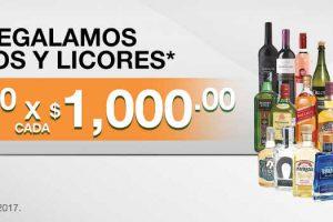 Comercial Mexicana $250 por cada $1000 de compra en vinos y licores