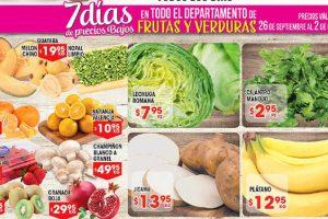 HEB folleto de frutas y verduras del 26 de septiembre al 2 de octubre 2017
