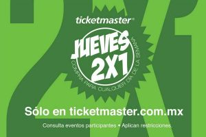 Jueves 2×1 en Ticketmaster 7 de Septiembre 2017