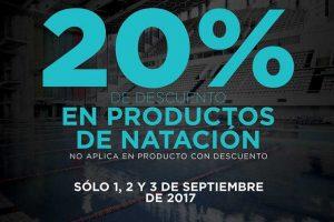 Martí 20% de descuento en productos de natación