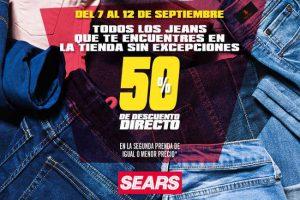 Sears: 50% de descuento en todos los Jeans en segunda compra