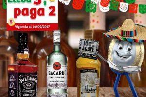 Soriana Mercado 3×2 en Tequilas, Whiskys al 14 de Septiembre