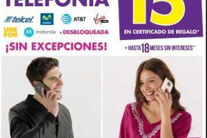 Suburbia 15% en Certificado de Regalo en Toda la Telefonía Celular