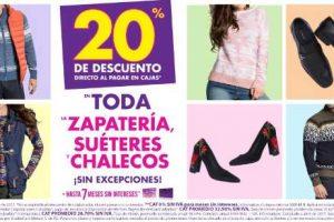 Suburbia 20% de descuento en zapateria, chalecos