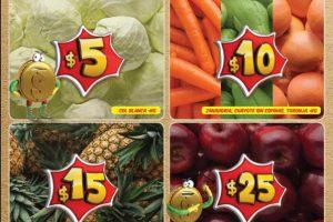 Bodega Aurrera frutas y verduras tiánguis de mamá lucha 6 al 12 de octubre 2017
