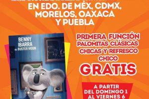 Cinemex Gratis, Película, Palomitas y Refresco del 1 al 6 de Octubre 2017