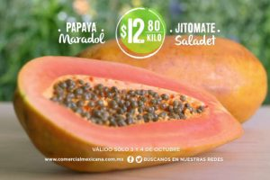 Comercial Mexicana frutas y verduras del campo 3 y 4 de Octubre 2017