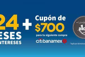 Elektra cupón de $700 y hasta 24 meses sin intereses con Citibanamex