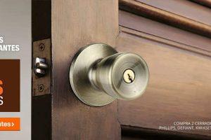Expo de Puertas y Cerraduras Home Depot 3×2 en cerraduras y manijas