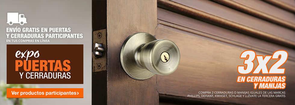 Expo de puertas y cerraduras home depot 3 2 en cerraduras for Precio de puertas home depot