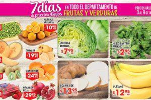 HEB folleto frutas y verduras del 3 al 9 de octubre 2017