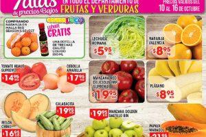 HEB folleto frutas y verduras del 10 al 16 de octubre 2017