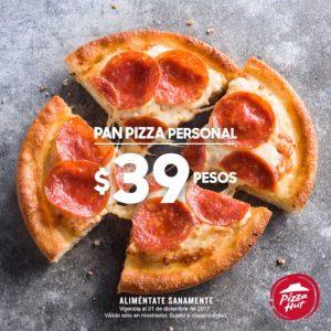 Pizza Hut Pan Pizza personal de un ingrediente a solo $39