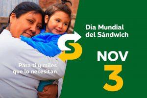 Promoción Subway Día del Sandwich 2×1 en subs 3 de noviembre 2017