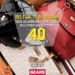 Sears: 40% de descuento en el segundo bolso sin excepciones