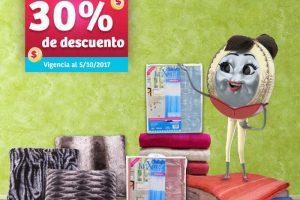 Soriana Mercado 30% de descuento en cojines, toallas y cortinas para baño