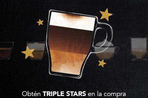 Starbucks TRIPLE STARS comprando bebida de Espresso del 2 al 8 de octubre