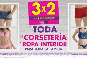 Suburbia 3×2 en toda la corsetería, medias y ropa interior