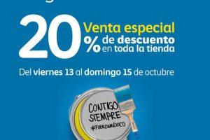 Venta Especial Comex: 20% de descuento en toda la tienda al 15 de Octubre