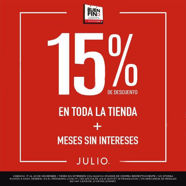 El Buen Fin 2017 Julio: 15% de descuento y mese sin intereses