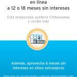 Banamex – El mejor martes del año 1 mes de bonificación a 12 ó 18 MSI
