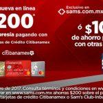 Pre Buen Fin 2017 Sam's Club: $200 de descuento con Banamex o Inbursa