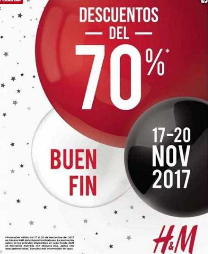 Promociones El Buen Fin 2017 H&M