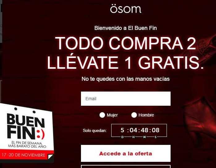 Ofertas El Buen Fin 2017 en Osom