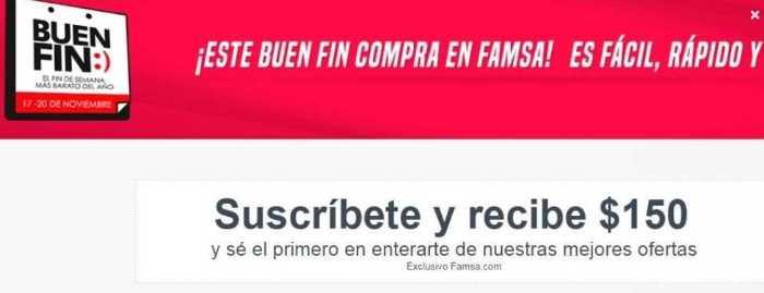 Famsa: El Buen Fin 2017 Cupón de $150 de descuento