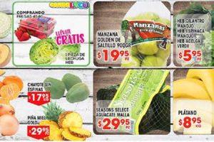 Frutas y verduras HEB del 7 al 13 de noviembre 2017