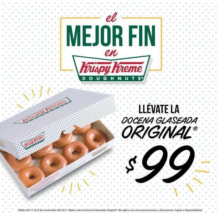 Ofertas Buen Fin 2017 Krispy Kreme