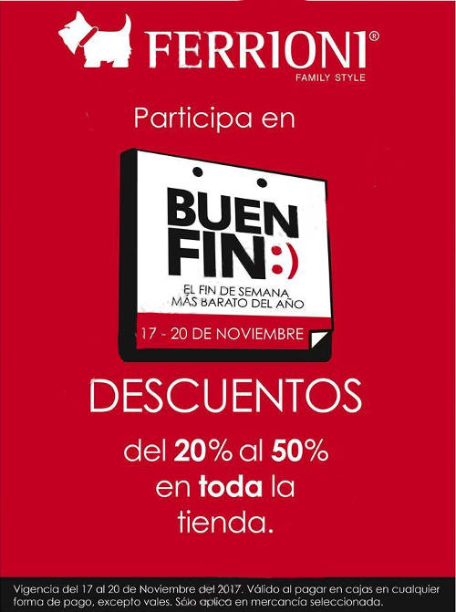 Ofertas del Buen Fin 2017 en Ferrioni