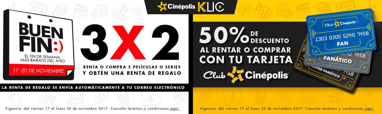 Ofertas El Buen Fin 2017 Cinepolis Klic