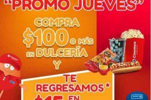 Promoción Jueves Cinemex 15% de bonificación en Dulcería