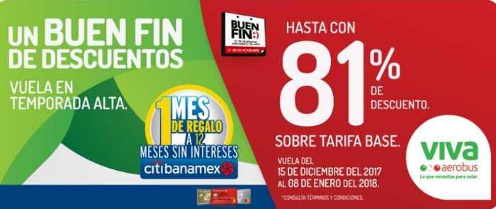 Ofertas El Buen Fin 2017 en VivaAerobus