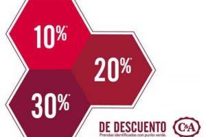 C&A 30% de descuento en mercancía con etiqueta verde
