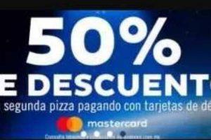 Domino's Pizza 50% de descuento en tu segunda pizza