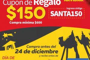 Elektra: cupón de $150 de regalo para navidad, Santa Claus y Reyes Magos