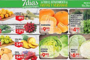 Frutas y verduras HEB del 19 al 25 de diciembre de 2017