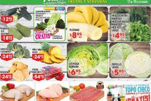 HEB: Frutas y Verduras del 12 al 18 de Diciembre de 2017