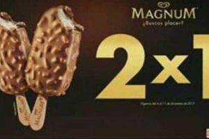 Oxxo cupón 2× 1 en Paletas Magnum al 11 de diciembre