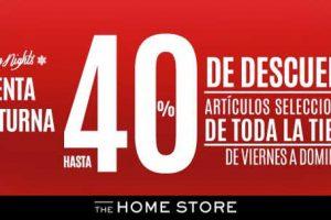 Venta Nocturna The Home Store del 15 al 17 de Diciembre 2017