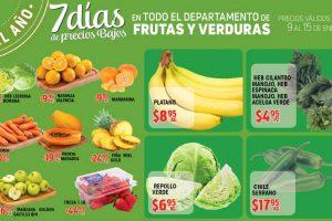 Frutas y verduras HEB del 9 al 15 de enero de 2017