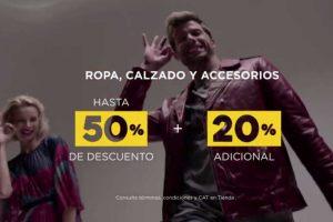 Palacio de Hierro rebaja sobre rebaja hasta 50% descuento + 20% adicional